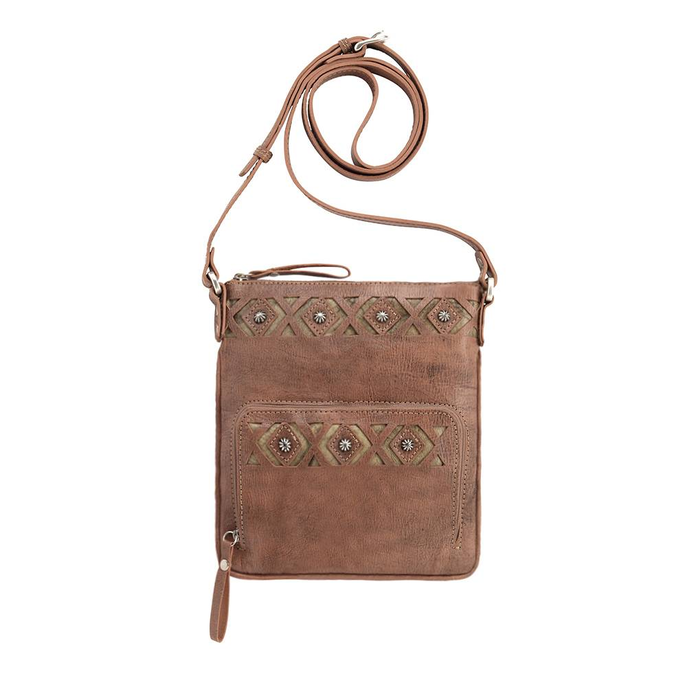 AMERICAN WEST Moon Dancer Crossbody Bag/Wallet - Rose/Sand