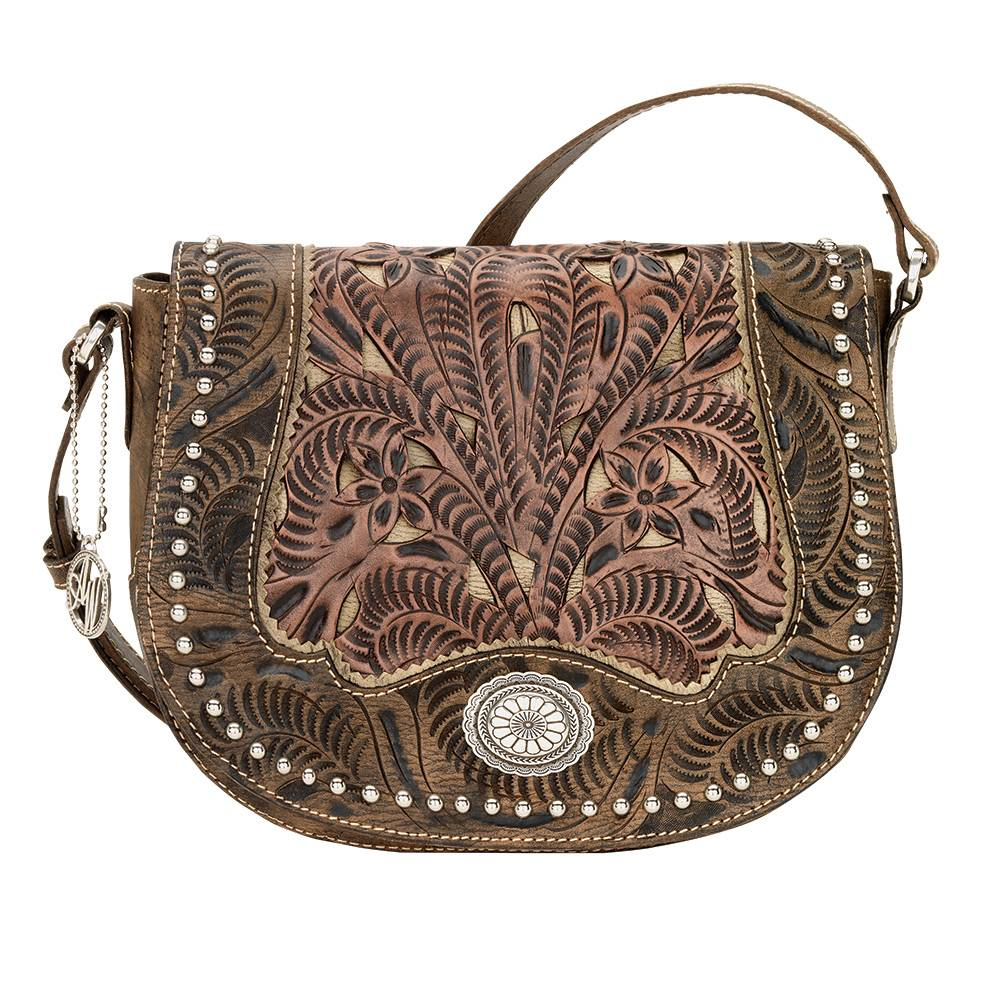AMERICAN WEST Rosewood Saddle Flap Crossbody Bag