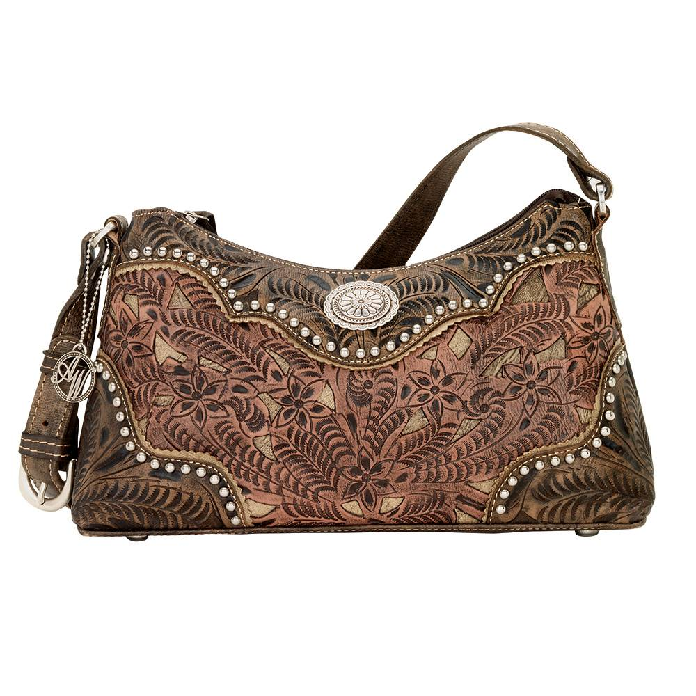 AMERICAN WEST Rosewood Zip-Top Shoulder Bag