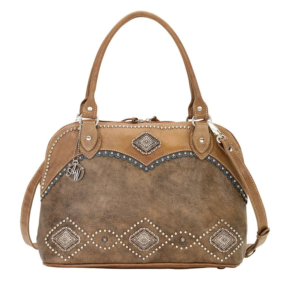 AMERICAN WEST Sierra Zip-Around Satchel and Crossbody Bag