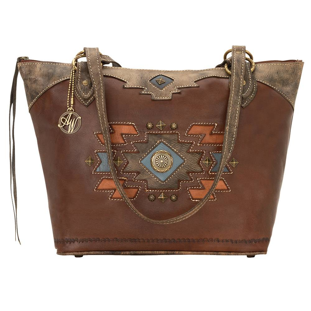 AMERICAN WEST Zuni Passage Zip Top Bucket Tote