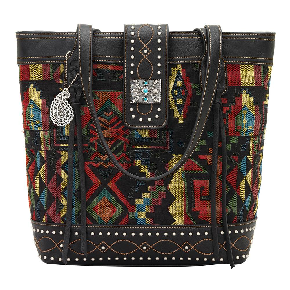 Bandana Black Canyon Zip Top Tote