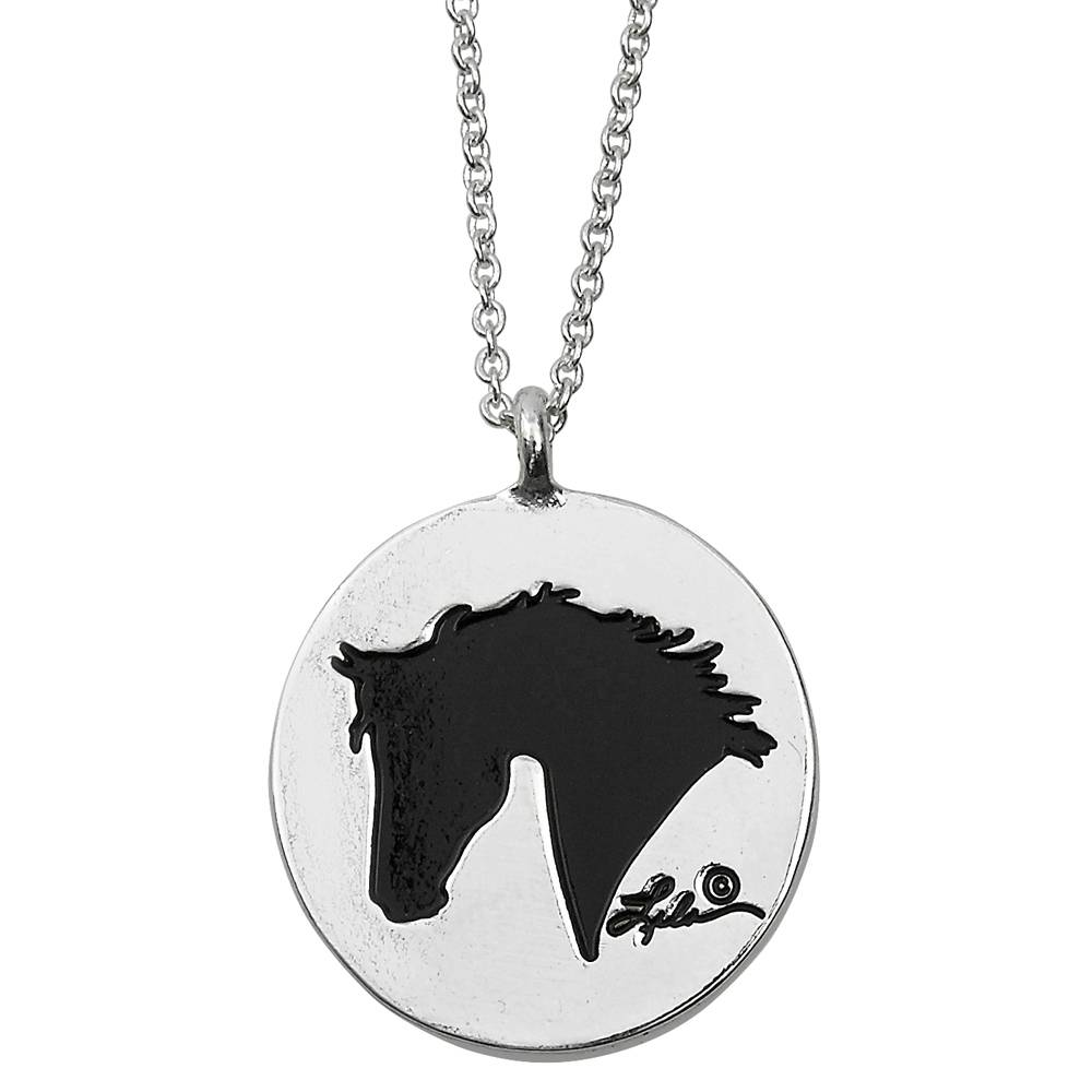 Ladies Lila 'Live, Laugh ,Love, Ride' Necklace