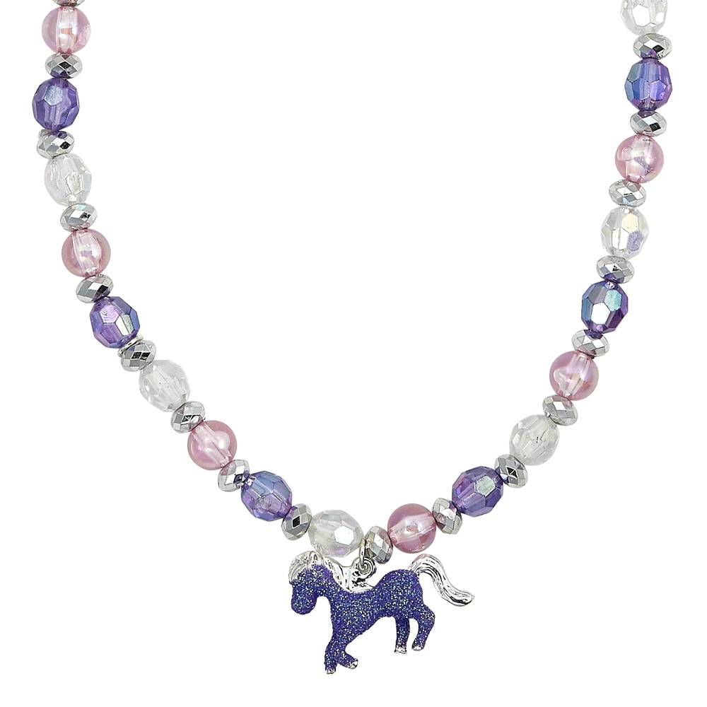Kids' Glitter Horse Necklace