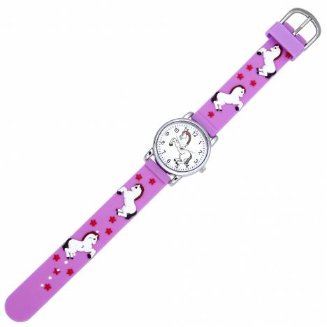 Kids White Playful Horse Watch