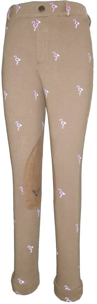 Tuffrider Kids Flamingo Embroidered Pull On Jods