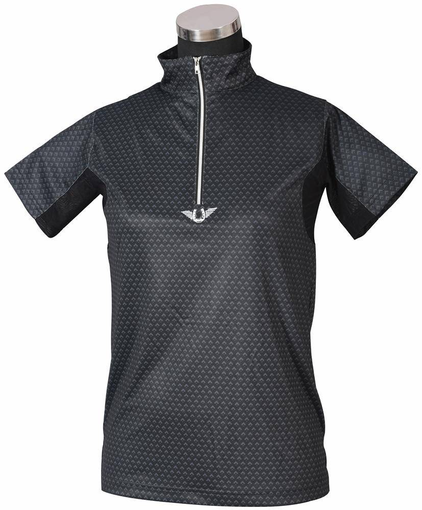 Tuffrider Ladies Black Diamond Shirt Short Sleeve Polo Shirt