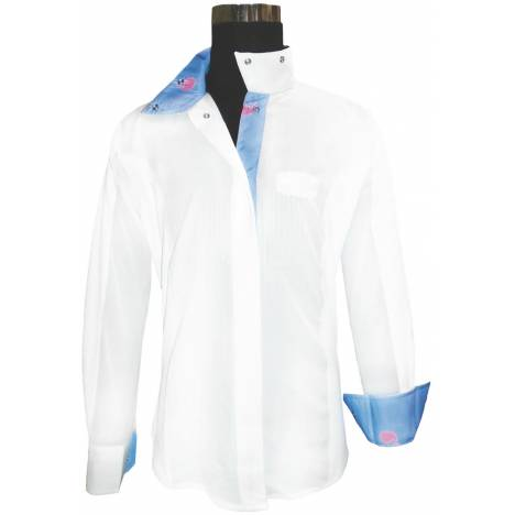 Equine Couture Ladies Whales Show Shirt