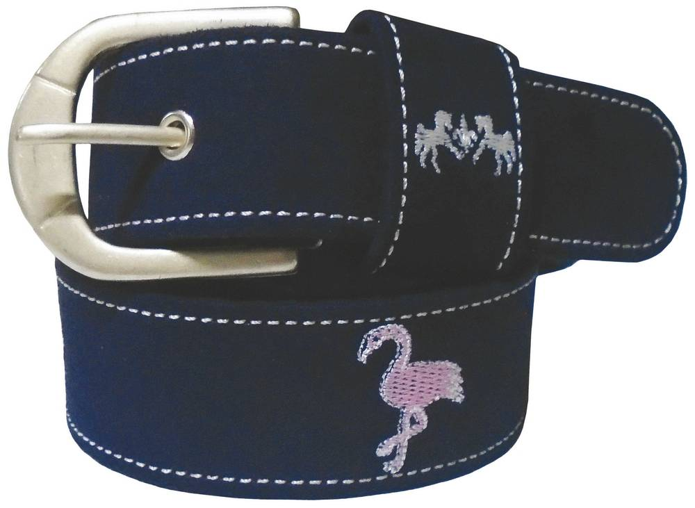 Equine Couture Ladies Flamingo Suede Belt