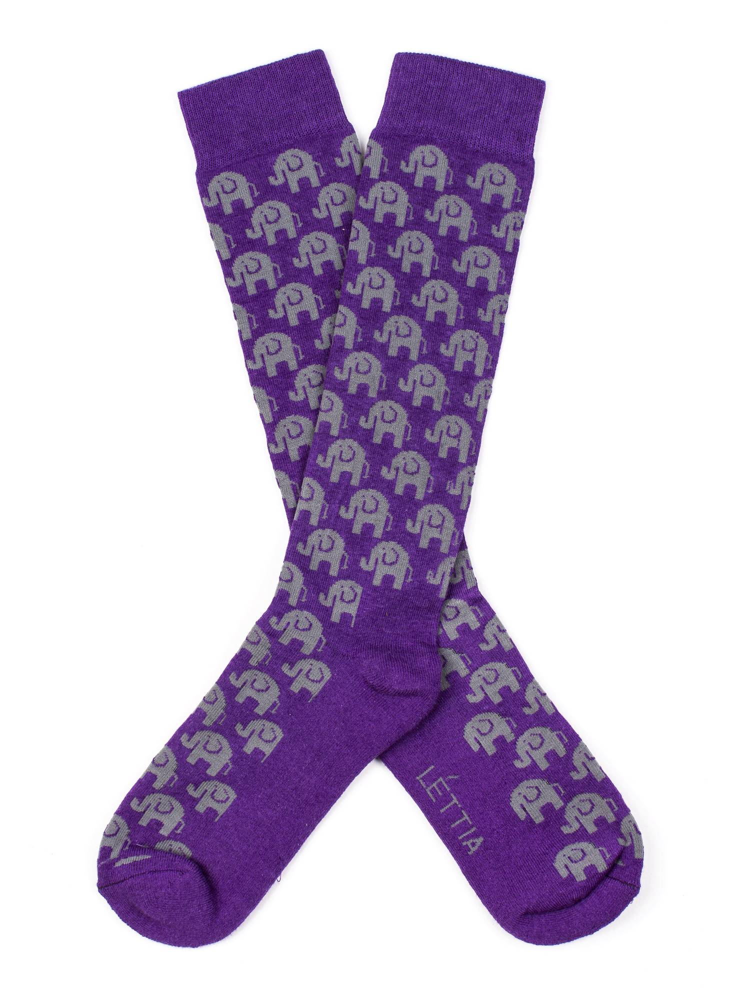 Lettia Ladies' Bamboo Boot Sock - Elephant