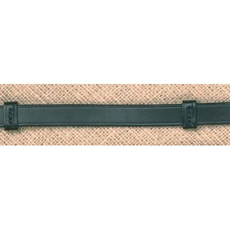 Stubben 5/8'' Plain Reins with Stops - Anthracite Hardware
