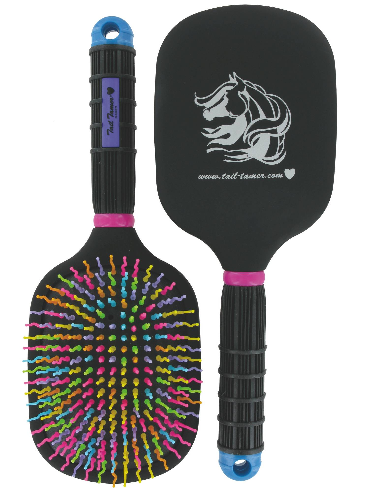 Tail Tamer Rainbow Paddle Brush