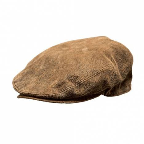 Outback Trading Men's Leather Ascot Cap