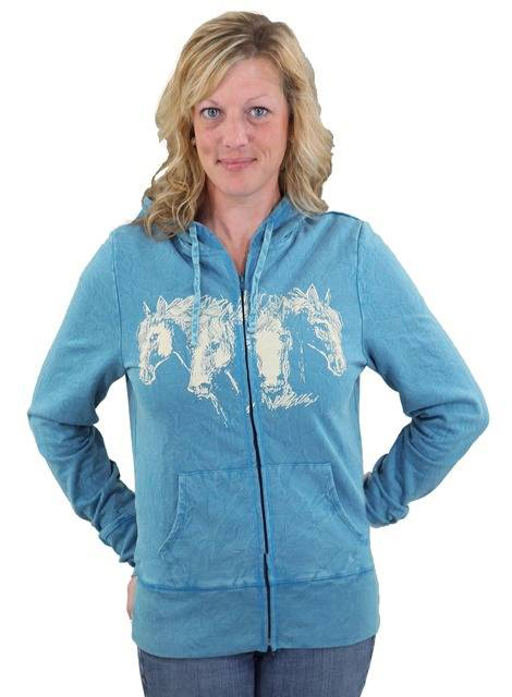 Outback Trading Ladies' Hungry Horses Hoodie