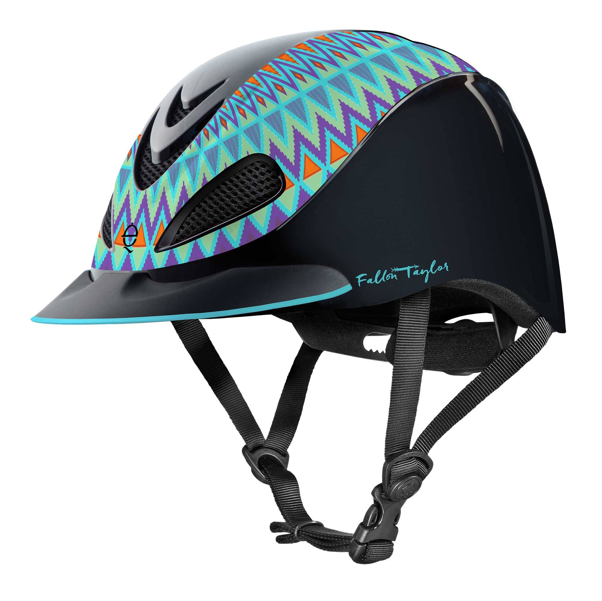 Troxel Fallon Taylor Helmet - Turquoise Aztec - FREE Cap with Purchase