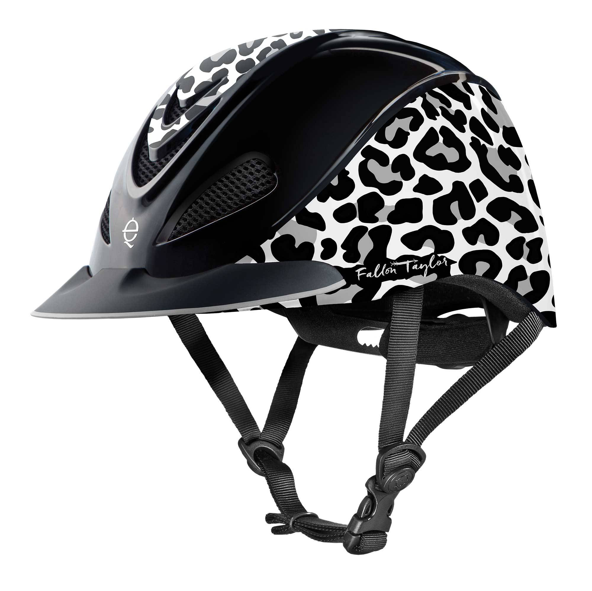 Troxel Fallon Taylor Helmet - Snow Leopard - FREE Cap with Purchase