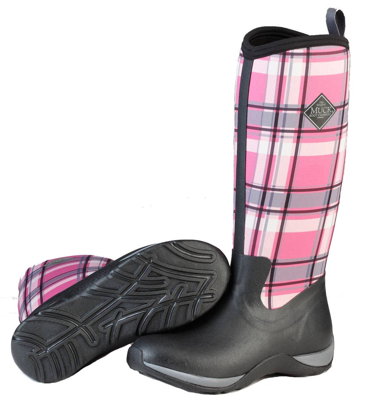 Muck Boots Women's Arctic Adventure - Black/Pink Plaid