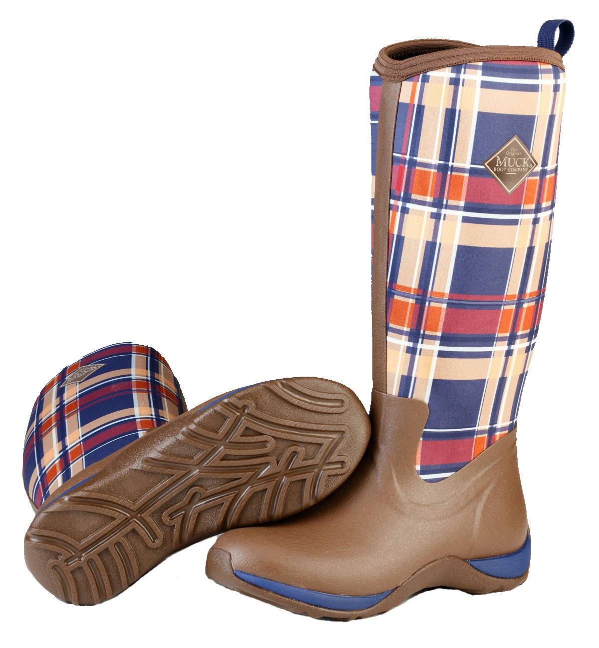 Muck Boots Ladies Arctic Adventure - Brown/Navy Plaid