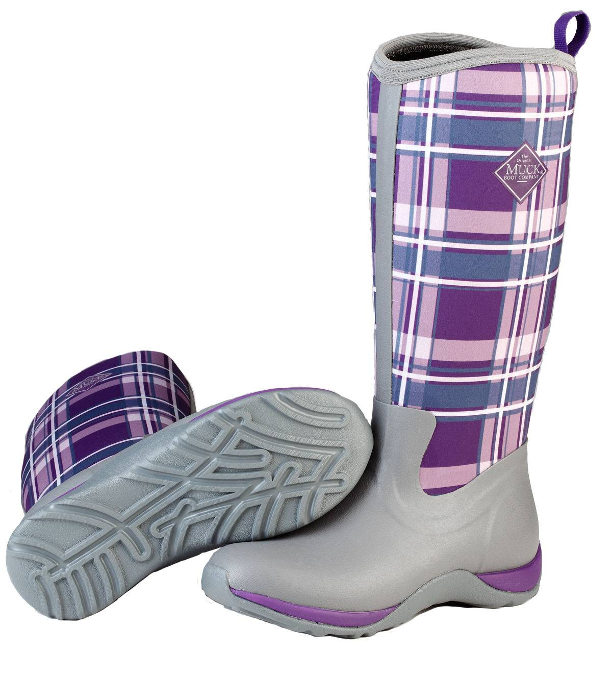 Muck Boots Women's Arctic Adventure - Gray/Acai Plaid
