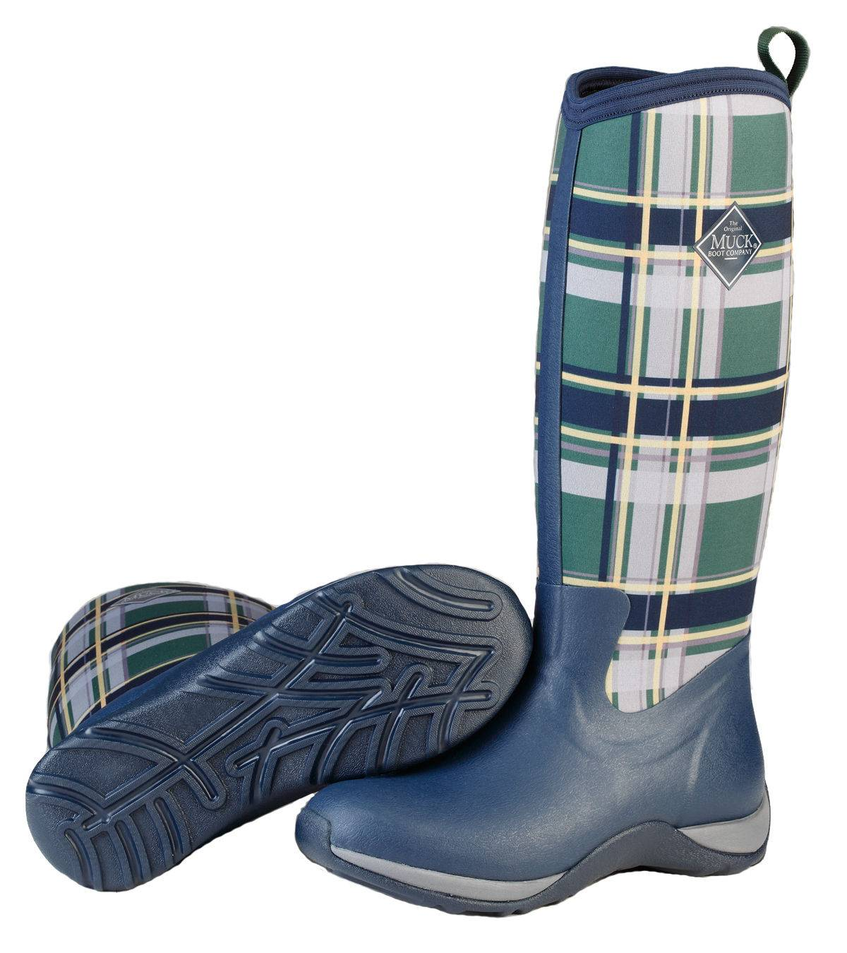 Muck Boots Ladies Arctic Adventure - Navy/Green Plaid