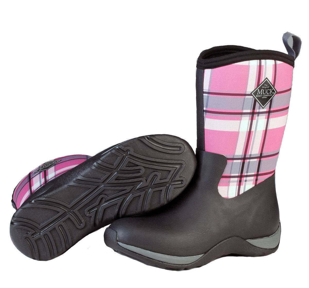 Muck Boots Ladies Arctic Weekend - Black Pink Plaid