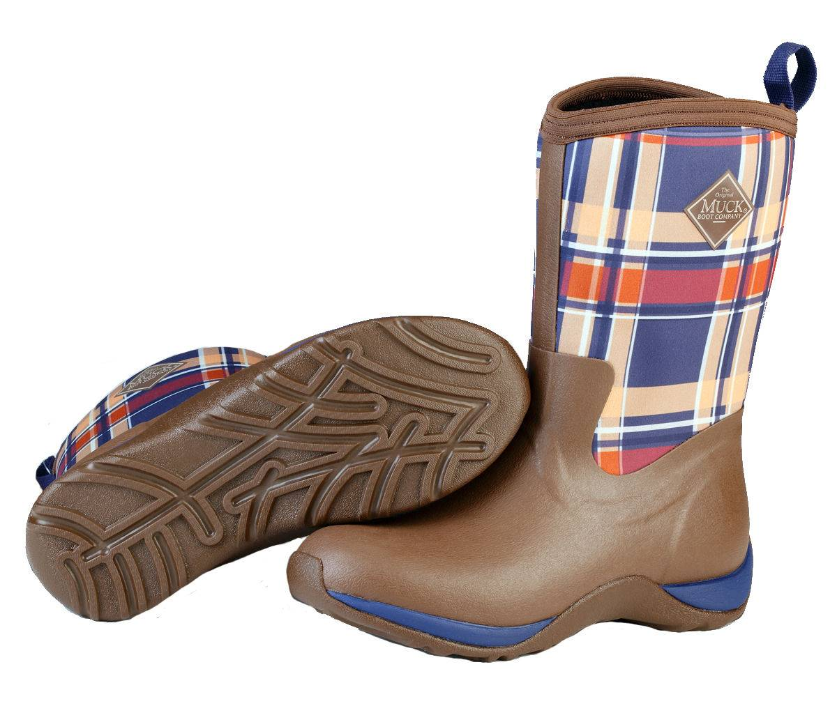 Muck Boots Ladies Arctic Weekend - Brown/Navy Plaid