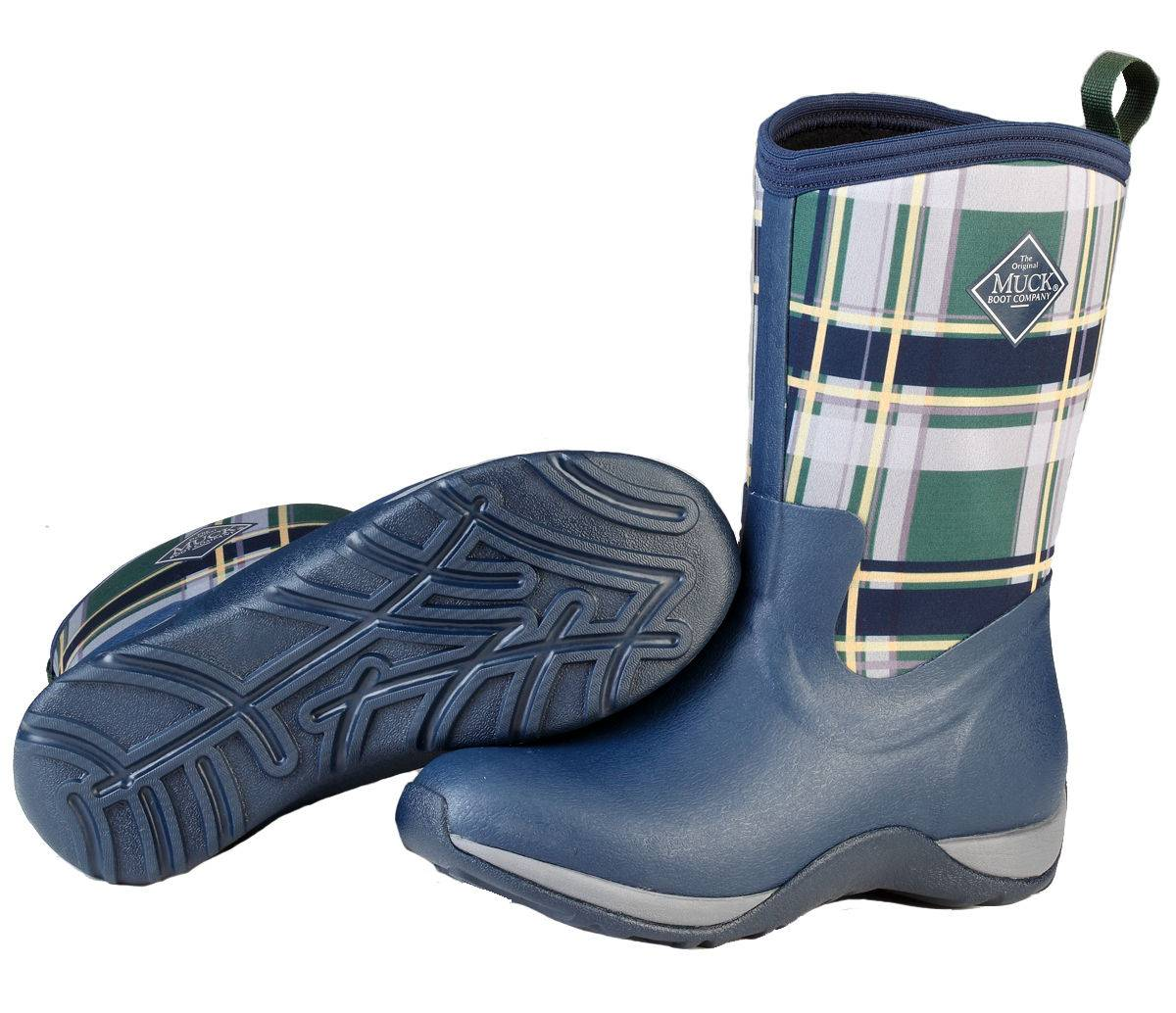 Muck Boots Ladies Arctic Weekend - Navy Green Plaid