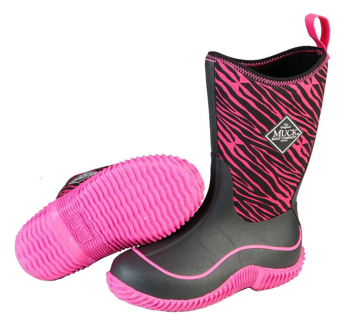 Muck Boots Youth Hale - Pink Zebra