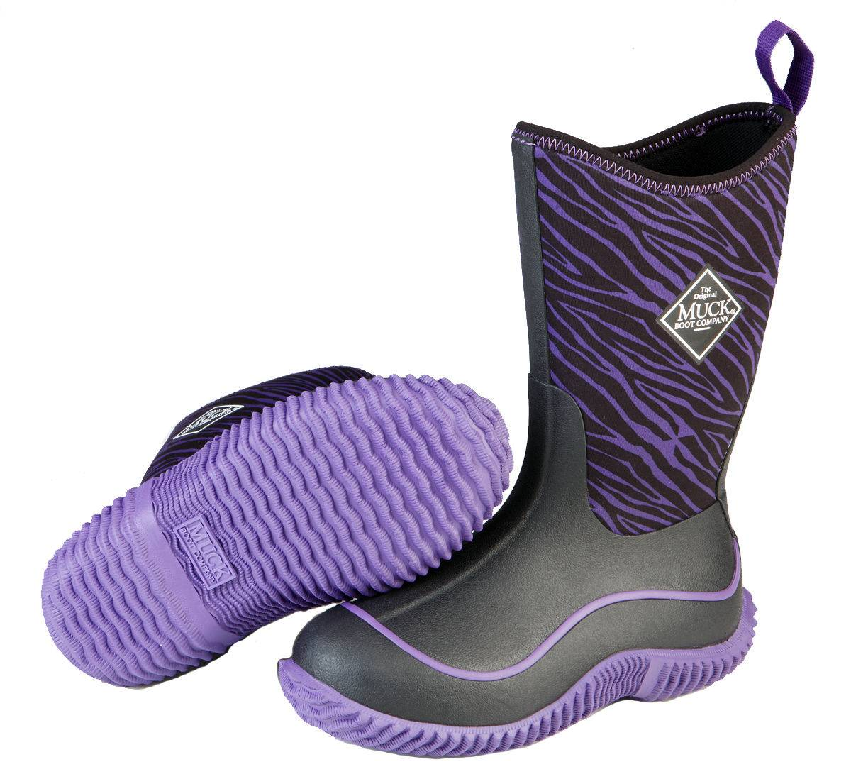 Muck Boots Youth Hale - Purple Zebra
