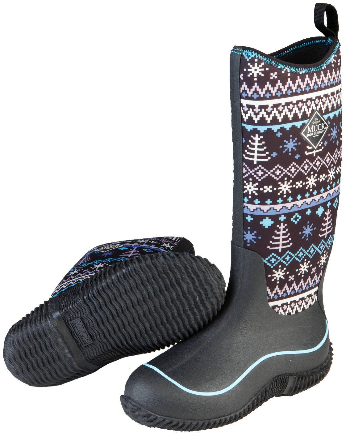 Muck Boots Ladies Hale - Black Winter Knit