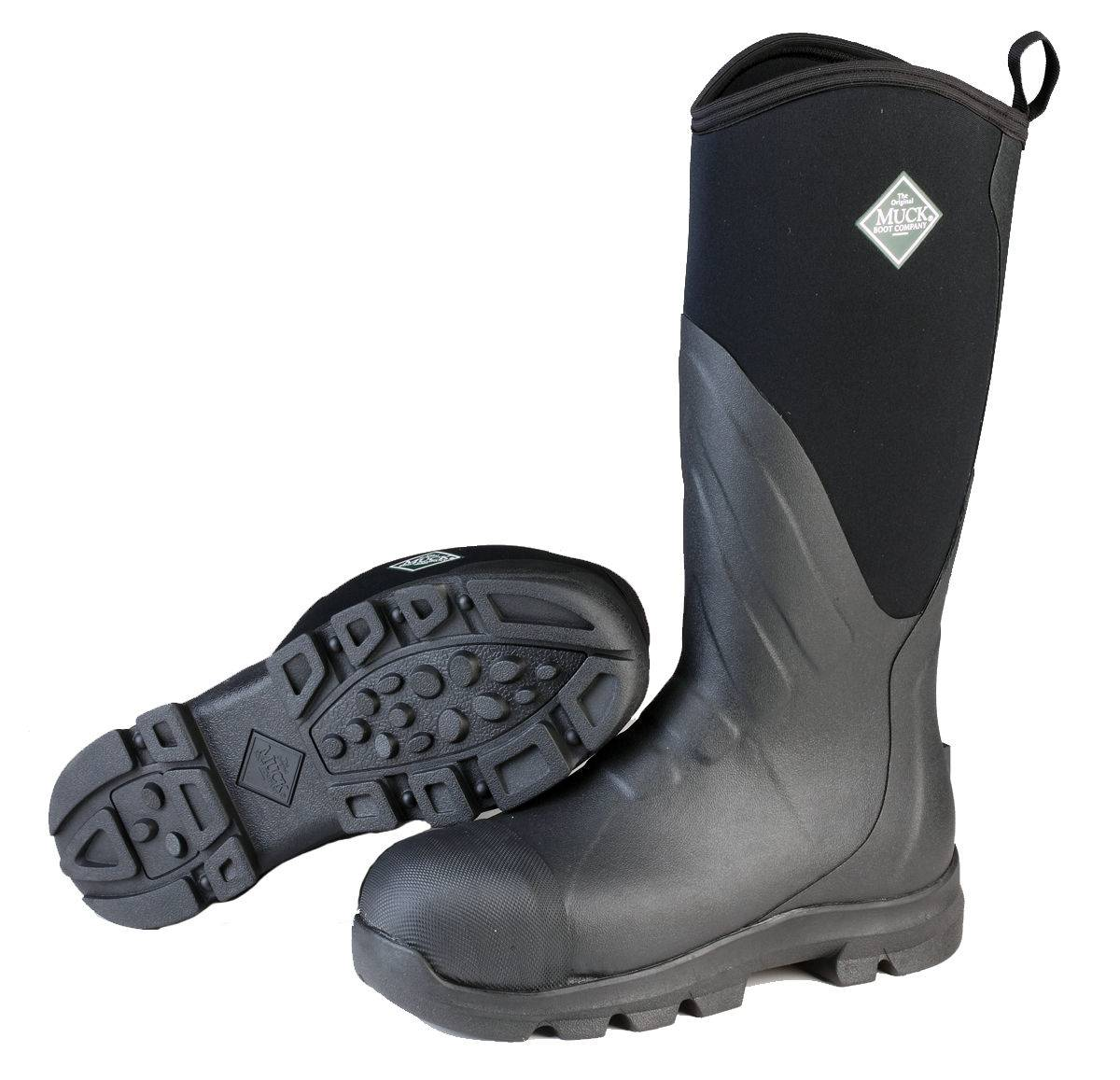 Muck Boots Mens Muck Grit Steel Toe - Black
