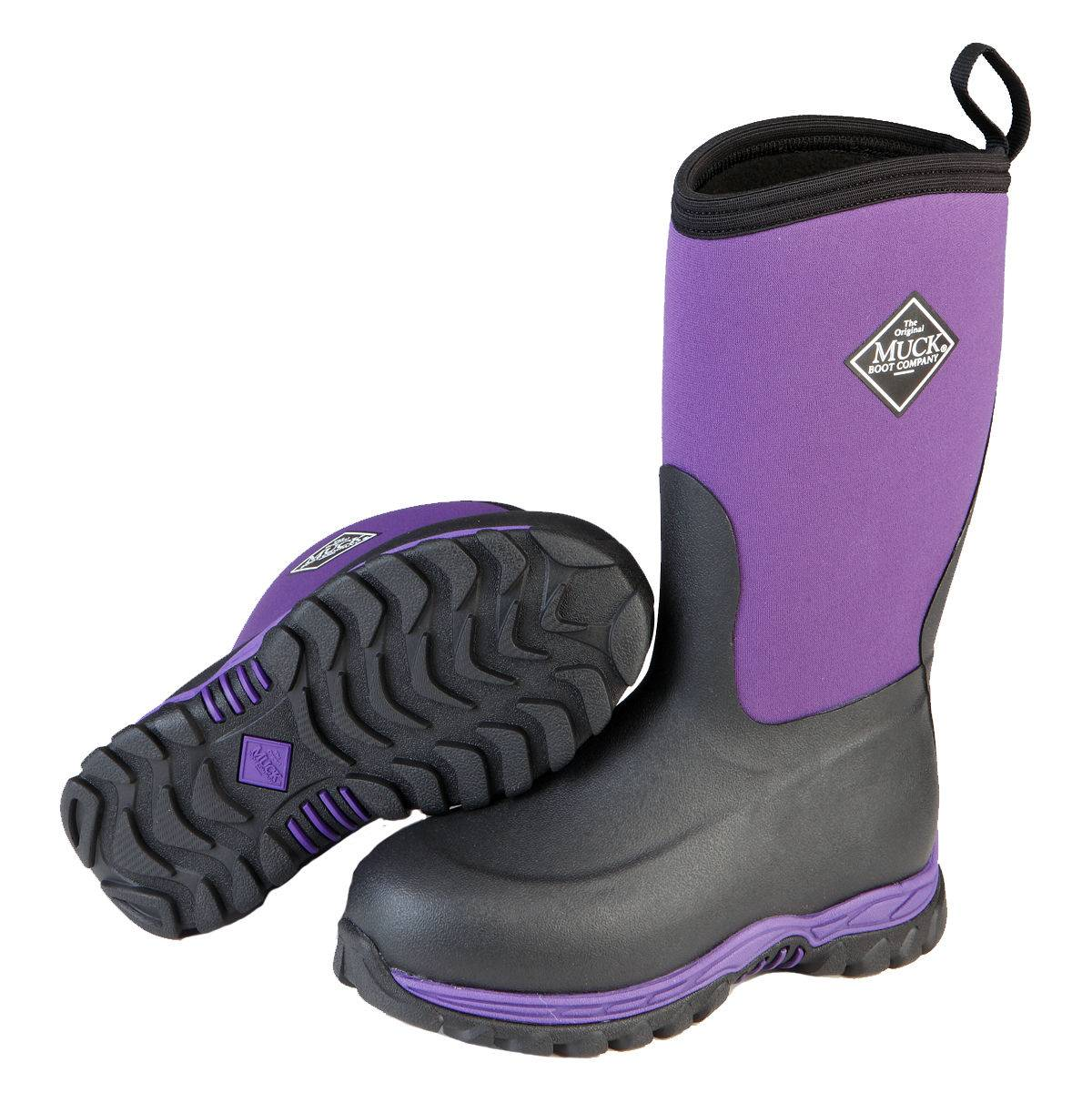 Muck Boots Kids Rugged II - Black/Purple
