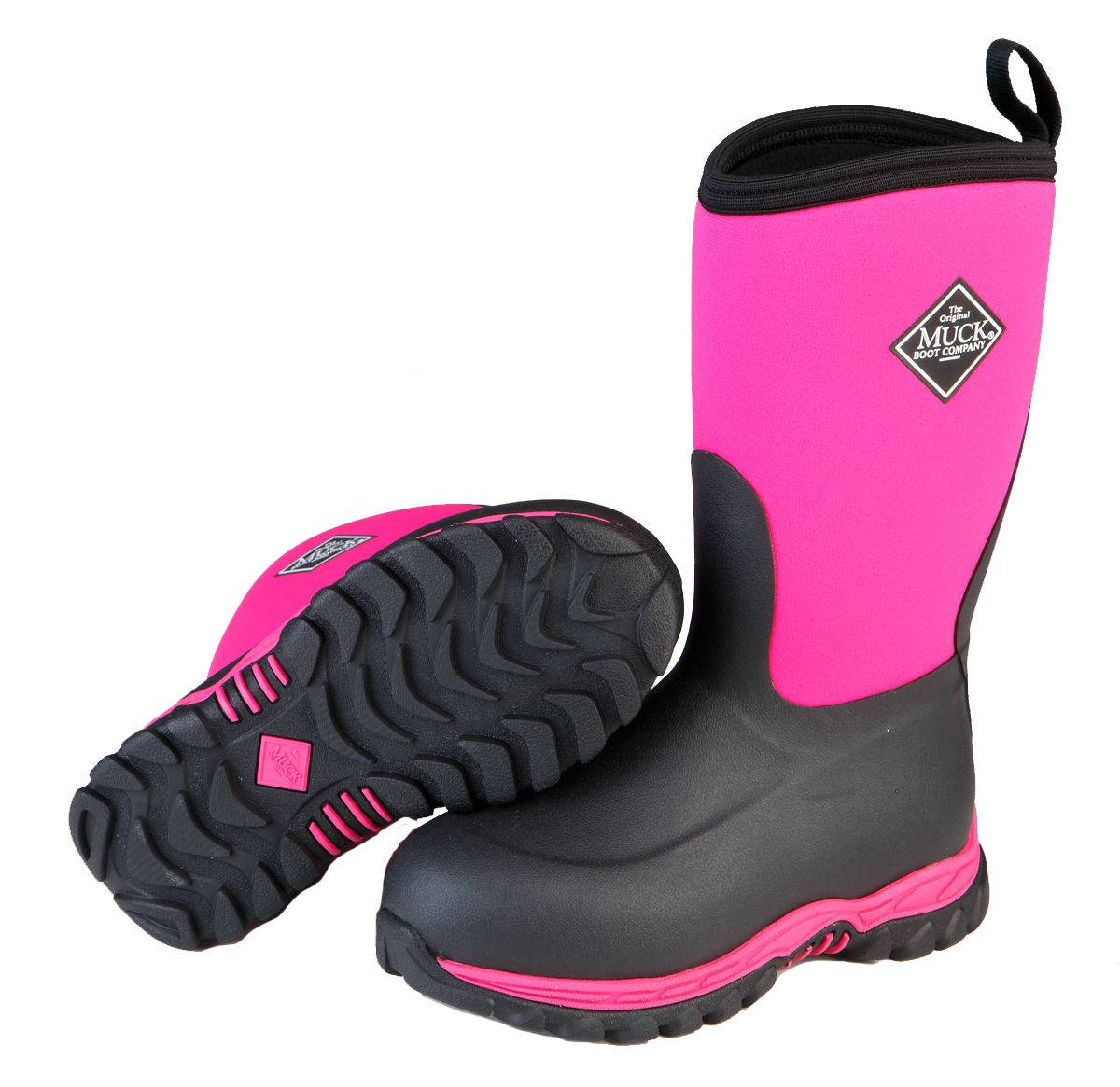 Muck Boots Kids Rugged II - Pink/Black