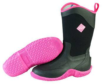 Muck Boots Ladies Tack II Mid - Black/Hot Pink