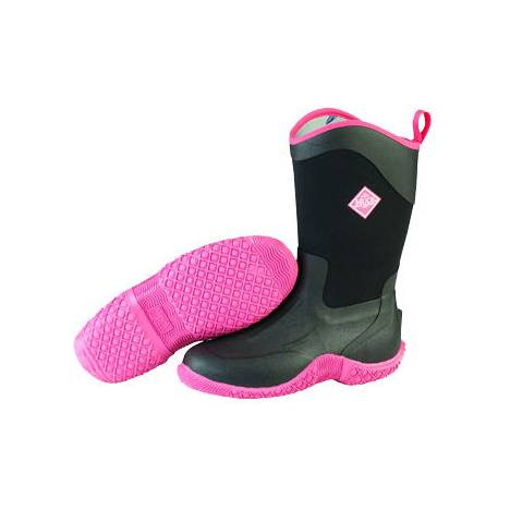 Muck Boots Ladies Tack II Mid - Black Hot Pink