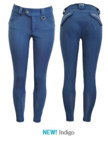FITS Ladies Hannah Printed Full Seat Breeches - Indigo