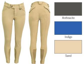 FITS Ladies Kallie Printed Knee Patch Breeches - Anthracite