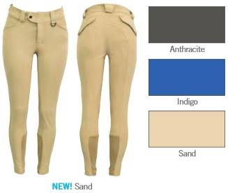 FITS Ladies Kallie Printed Knee Patch Breeches - Sand