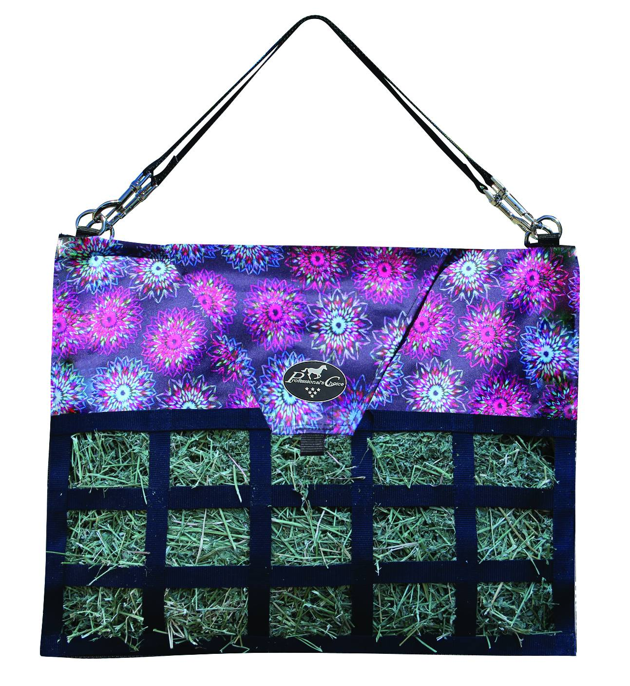 Professionals Choice Med Feed Hay Bag - Flower Neon