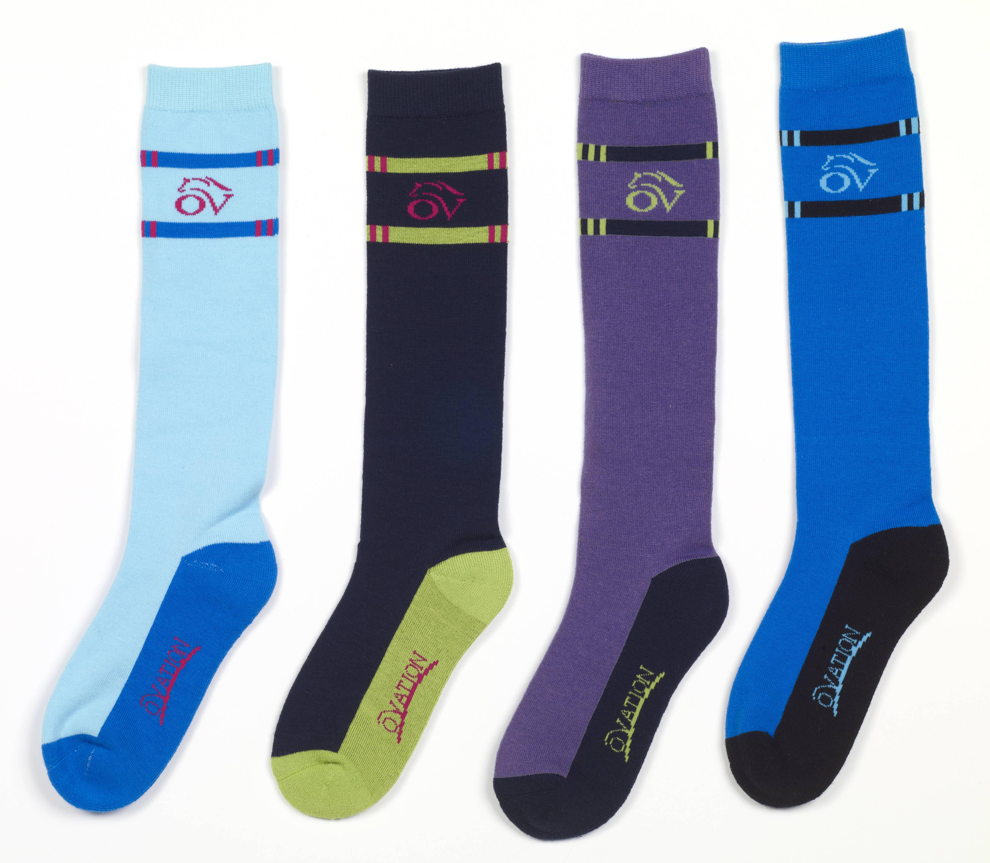 Ovation Ladies Painted Rails Riding Socks