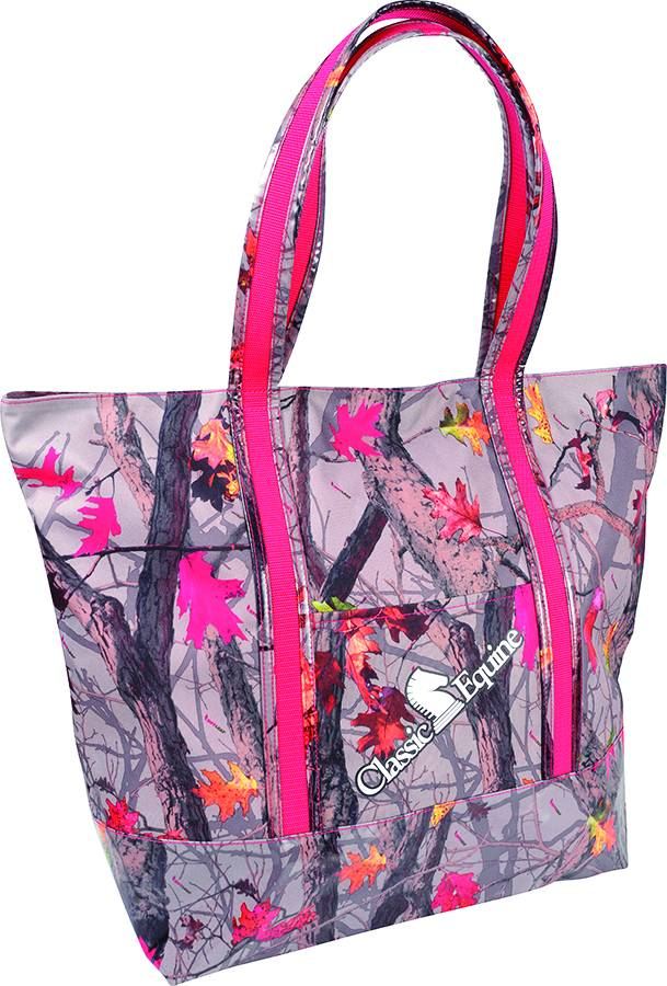 Classic Equine Large Tote - Hot Leaf