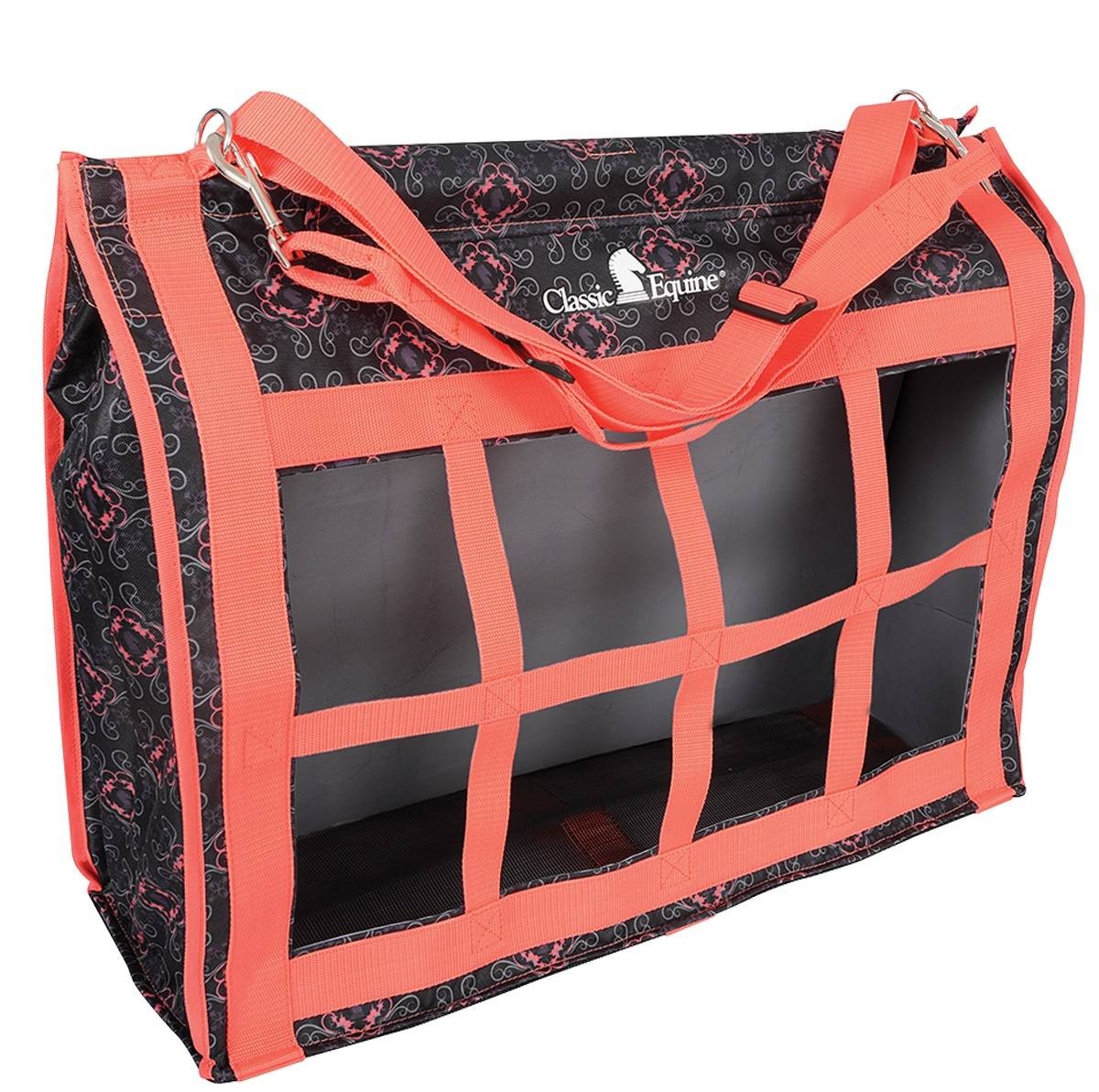 Classic Equine Topload Hay Bag - Coral Knight
