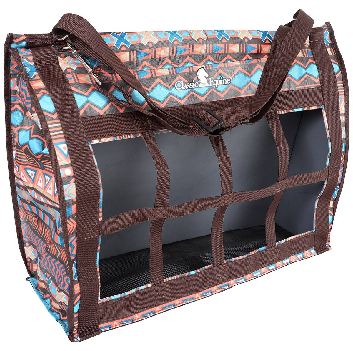 Classic Equine Topload Hay Bag - Chocolate Tribal