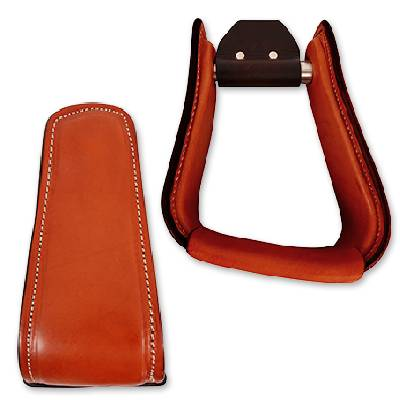 Martin Leather Covered Aluminum Angled Stirrup
