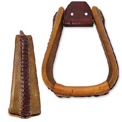 Martin Extra Wide Rawhide Covered Roper Stirrup