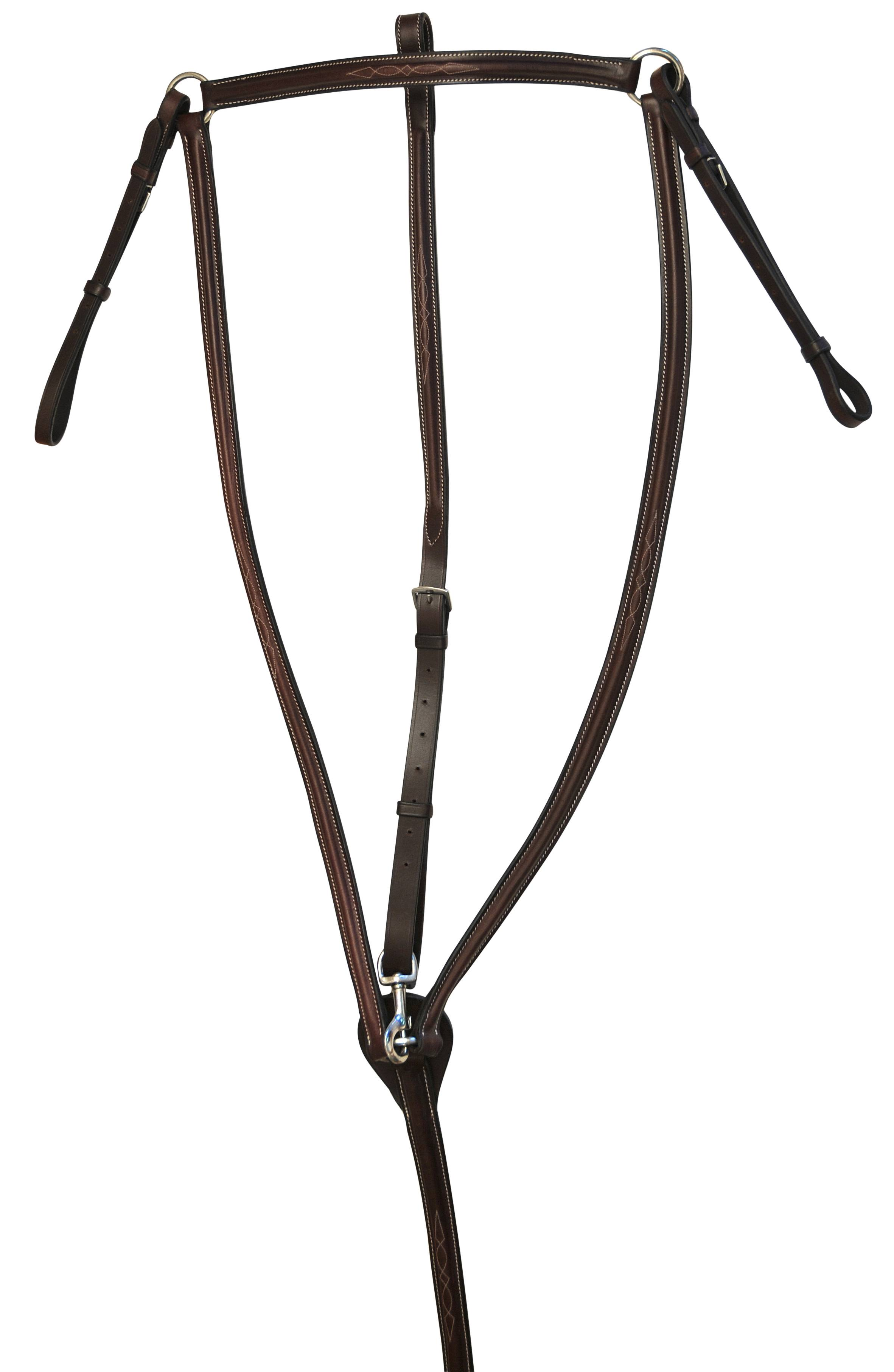 Treadstone Richtan Plus Paised Breastplate Fancy Stitched Raised Standing Attachment