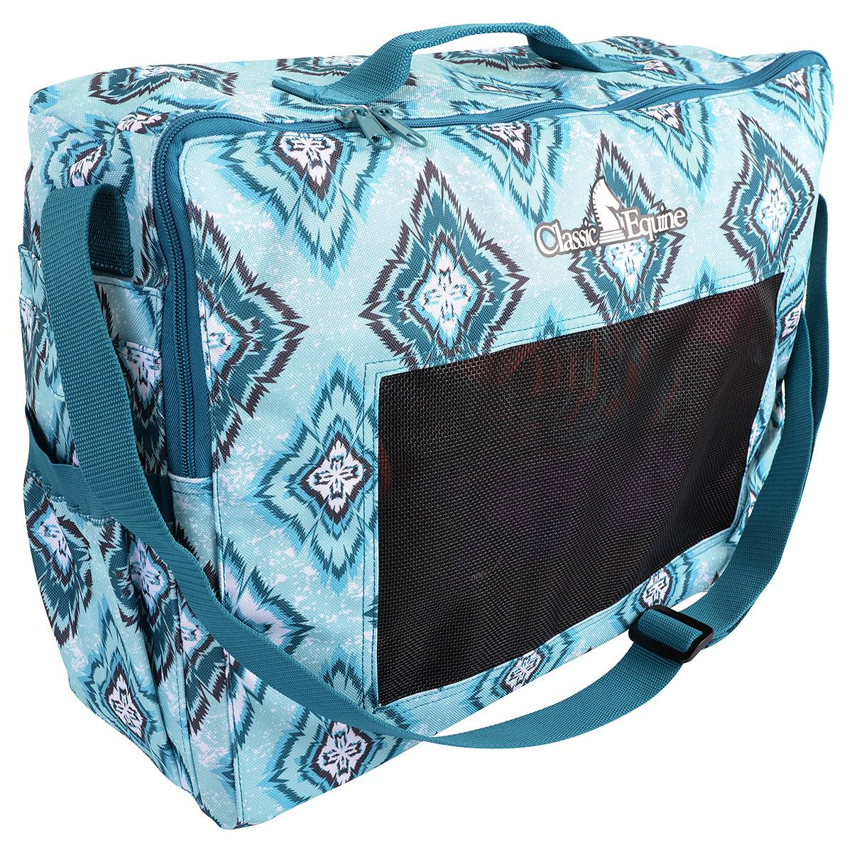 Classic Equine Boot Accessory Tote - Teal Diamond