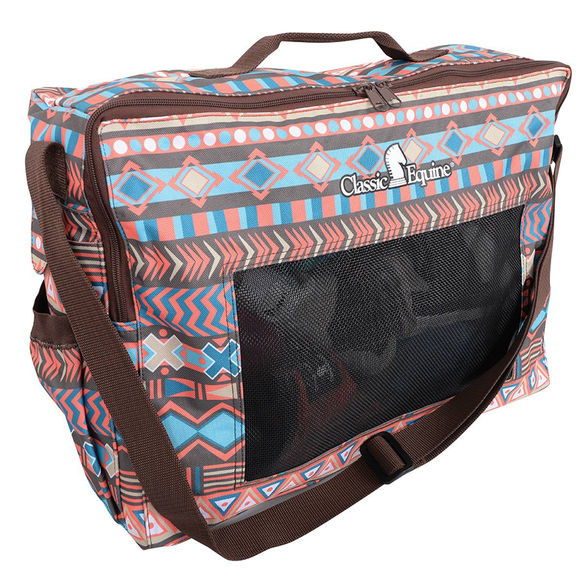 Classic Equine Boot Accessory Tote - Chocolate Tribal