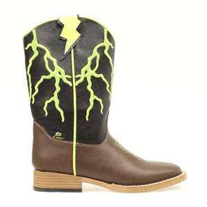 DBL Barrel Kids Ace Lightening Bolt Western Boot