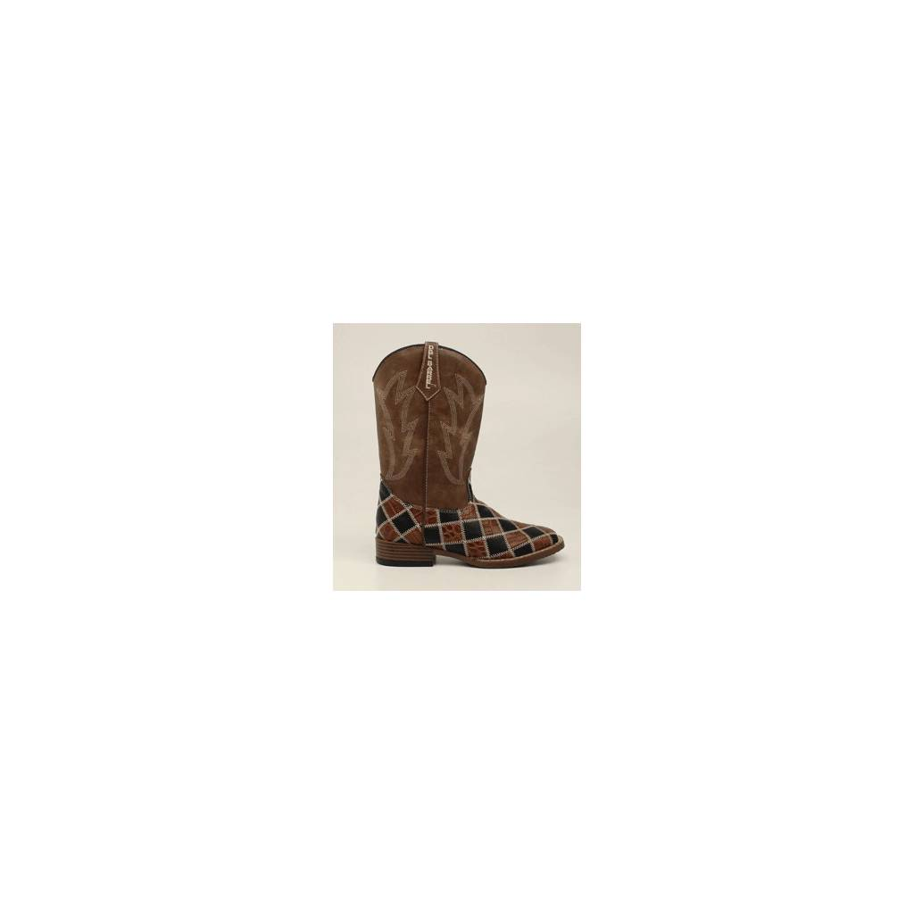 DBL Barrel Kids Andy Patchwork Western Boot